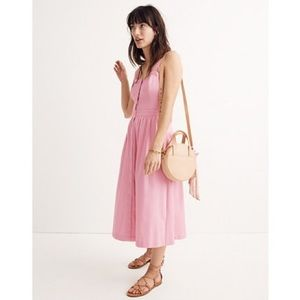Brand new Madewell pink bow back dress 🎀